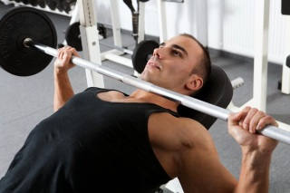 Barbell shoulders press